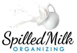 spilled milk organizing logo